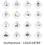 seasons flat rhombus web icons... | Shutterstock .eps vector #1263118789