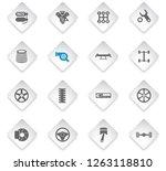 auto tuning flat rhombus web... | Shutterstock .eps vector #1263118810