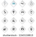travel flat rhombus web icons... | Shutterstock .eps vector #1263118813