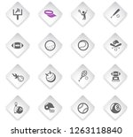 sport flat rhombus web icons... | Shutterstock .eps vector #1263118840