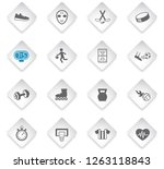 sport flat rhombus web icons... | Shutterstock .eps vector #1263118843