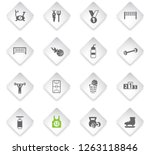 sport flat rhombus web icons... | Shutterstock .eps vector #1263118846