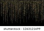 garland lights gold glitter... | Shutterstock .eps vector #1263121699