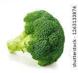 Fresh Broccoli Isolated On...
