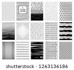 set of vector hand drawn marker ... | Shutterstock .eps vector #1263136186