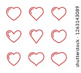 heart vector icons  love symbol | Shutterstock .eps vector #1263143089