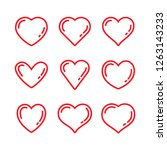 heart vector icons  love symbol | Shutterstock .eps vector #1263143233