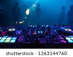 dj mixer on the table... | Shutterstock . vector #1263144760