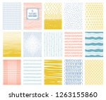 set of colorful abstract... | Shutterstock .eps vector #1263155860