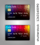 bank card. modern credit card... | Shutterstock .eps vector #1263160090