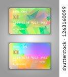 bank card. modern credit card... | Shutterstock .eps vector #1263160099