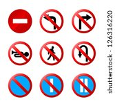 European Road Signs With Details