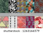 collection of seamless patterns.... | Shutterstock .eps vector #1263166579