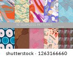 collection of seamless patterns.... | Shutterstock .eps vector #1263166660