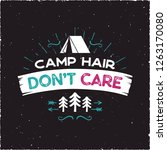 camp hair don't care t shirt... | Shutterstock .eps vector #1263170080