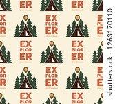 camping explorer pattern design ...   Shutterstock .eps vector #1263170110