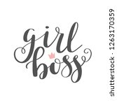 girl boss lettering vector.... | Shutterstock .eps vector #1263170359