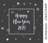 happy new year labels and... | Shutterstock .eps vector #1263174409