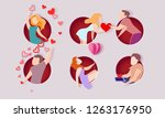 valentines day card. men  women ... | Shutterstock .eps vector #1263176950
