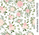 seamless vector floral pattern... | Shutterstock .eps vector #1263179920