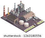 industrial buildings isometric... | Shutterstock .eps vector #1263180556