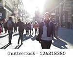 urban girl standing out from... | Shutterstock . vector #126318380
