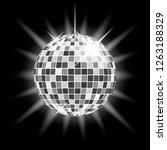 shining silver disco ball on a... | Shutterstock .eps vector #1263188329