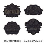 vintage black logos and emblems ... | Shutterstock .eps vector #1263193273