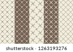 set of black and white mosaic...   Shutterstock .eps vector #1263193276