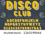 font script typeface vector... | Shutterstock .eps vector #1263198466