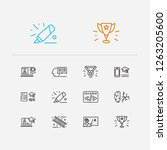 online learning icons set....