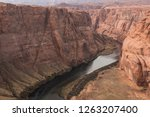 a distant look at the horseshoe ... | Shutterstock . vector #1263207400