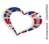 Heart With British Flag On...