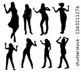 collection of silhouettes of...   Shutterstock .eps vector #1263211276