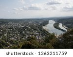 bird's eye view of a city from... | Shutterstock . vector #1263211759
