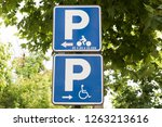image of a street sign is seen... | Shutterstock . vector #1263213616