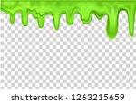 Green Slime 3d Vector...