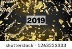 2019 magic glitter confetti ... | Shutterstock .eps vector #1263223333