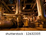 pipes and tubes and chimney at... | Shutterstock . vector #12632335