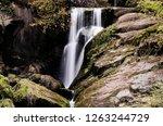 a waterfall in schwarzwald ...   Shutterstock . vector #1263244729