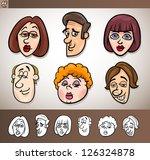 cartoon illustration of funny... | Shutterstock .eps vector #126324878