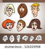 cartoon illustration of funny... | Shutterstock .eps vector #126324908