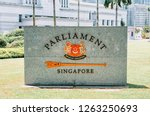 granite sign at parliament... | Shutterstock . vector #1263250693