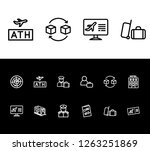 airport icon set and passport...