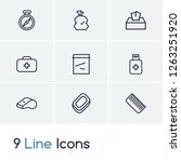 camp icon set and plastic...