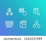 server icon set and network...