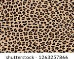 seamless faux leopard skin... | Shutterstock .eps vector #1263257866