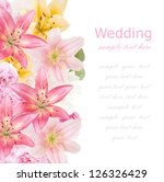 wedding background  roses ... | Shutterstock . vector #126326429