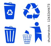 recycling icon. vector... | Shutterstock .eps vector #1263264673