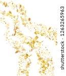 gold glowing realistic confetti ... | Shutterstock .eps vector #1263265963